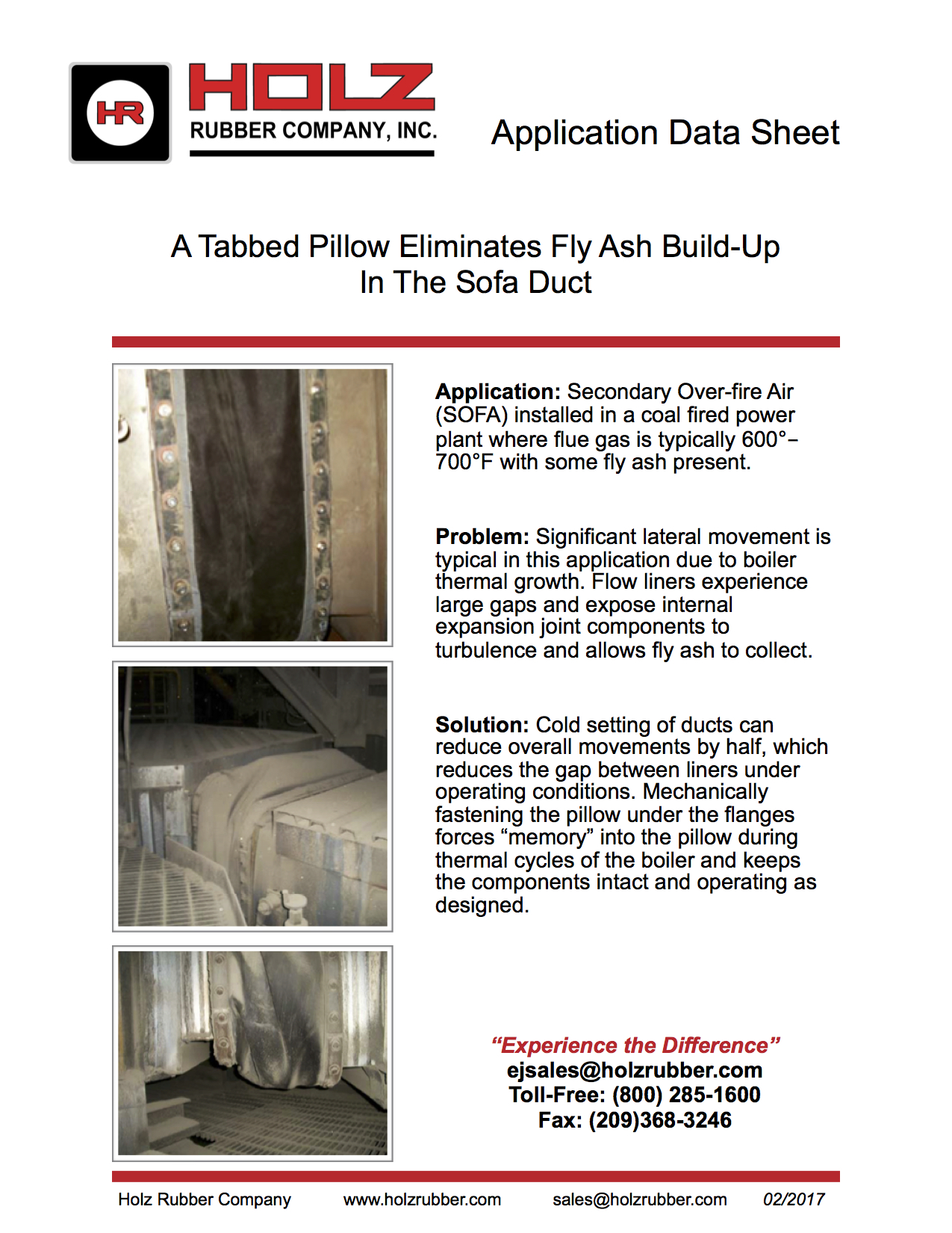 A Tabbed Pillow Eliminates Fly Ash Build-Up In The Sofa Duct