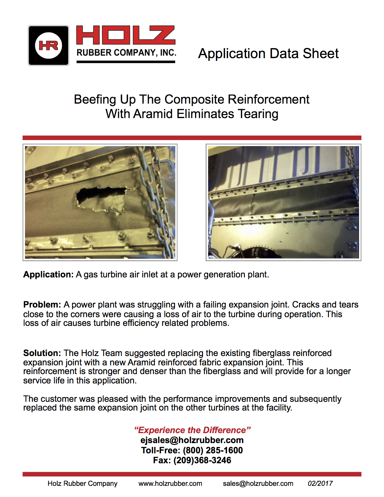 Beefing Up The Composite Reinforcement With Aramid Eliminates Tearing