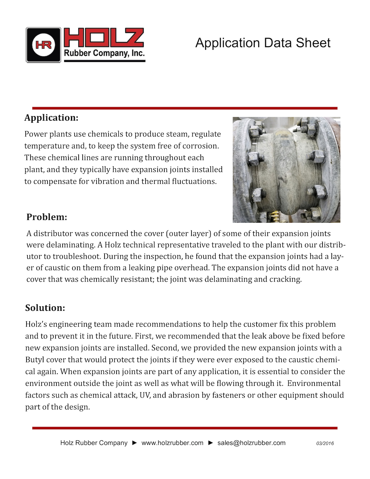 Overhead Piping Damages Expansion Joint