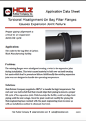 Holz Rubber Application Data Sheet Torsional Misalignment On Bag Filter Flanges Causes Expansion Joint Failure