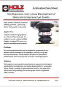Holz Rubber Application Data Sheet Holz Expansion Joint Allows Development of Catalysts to Improve Fuel Quality