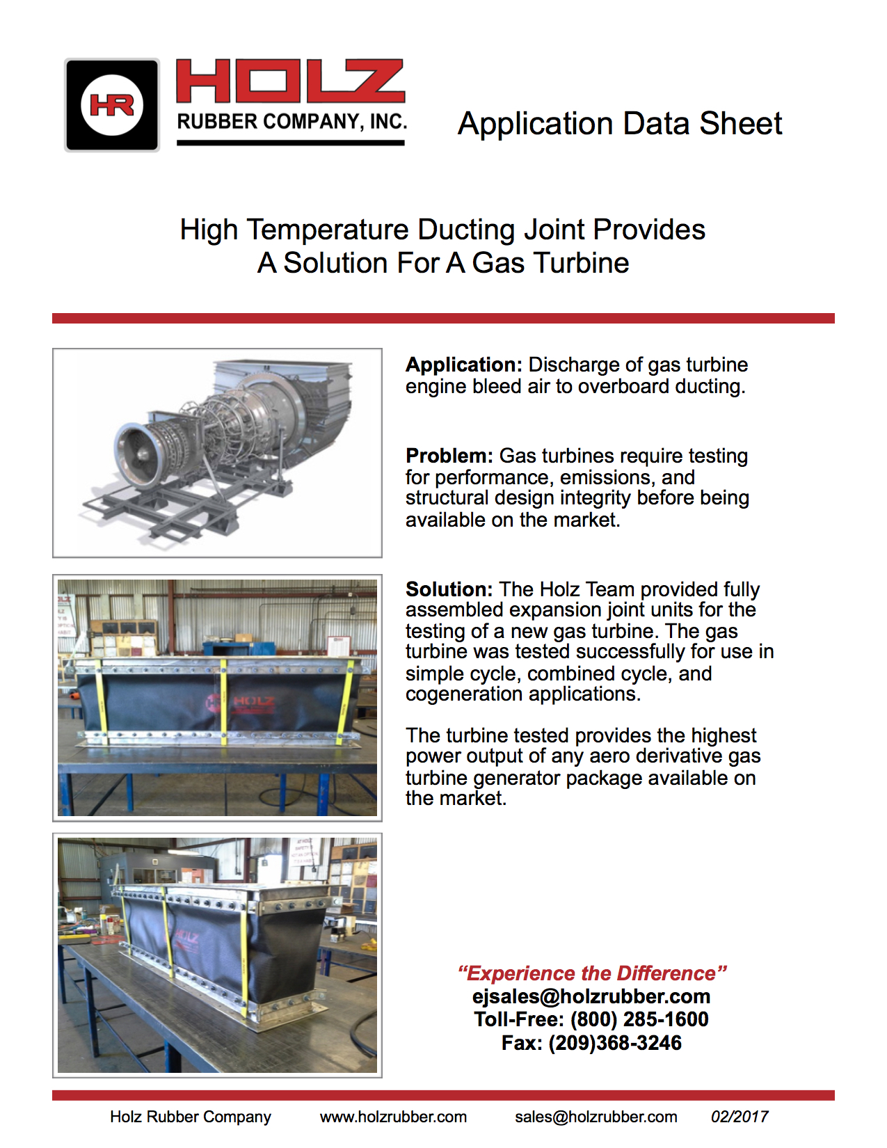 High Temperature Ducting Joint Provides A Solution For A Gas Turbine