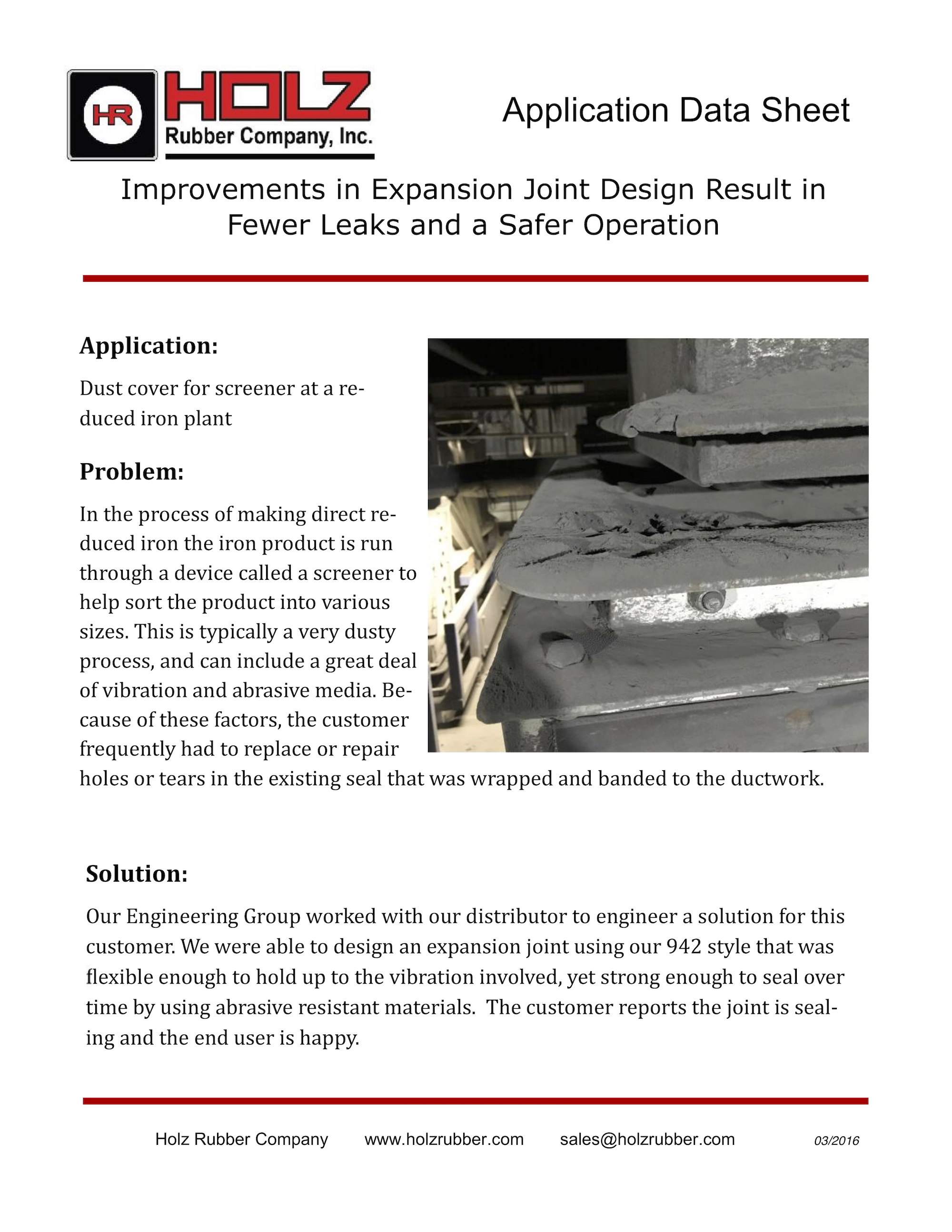Improvements in Expansion Joint Design Result in Fewer Leaks and a Safer Operation