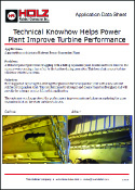Holz Rubber Application Data Sheet Technical Knowhow Helps Power Plant Improve Turbine Performance