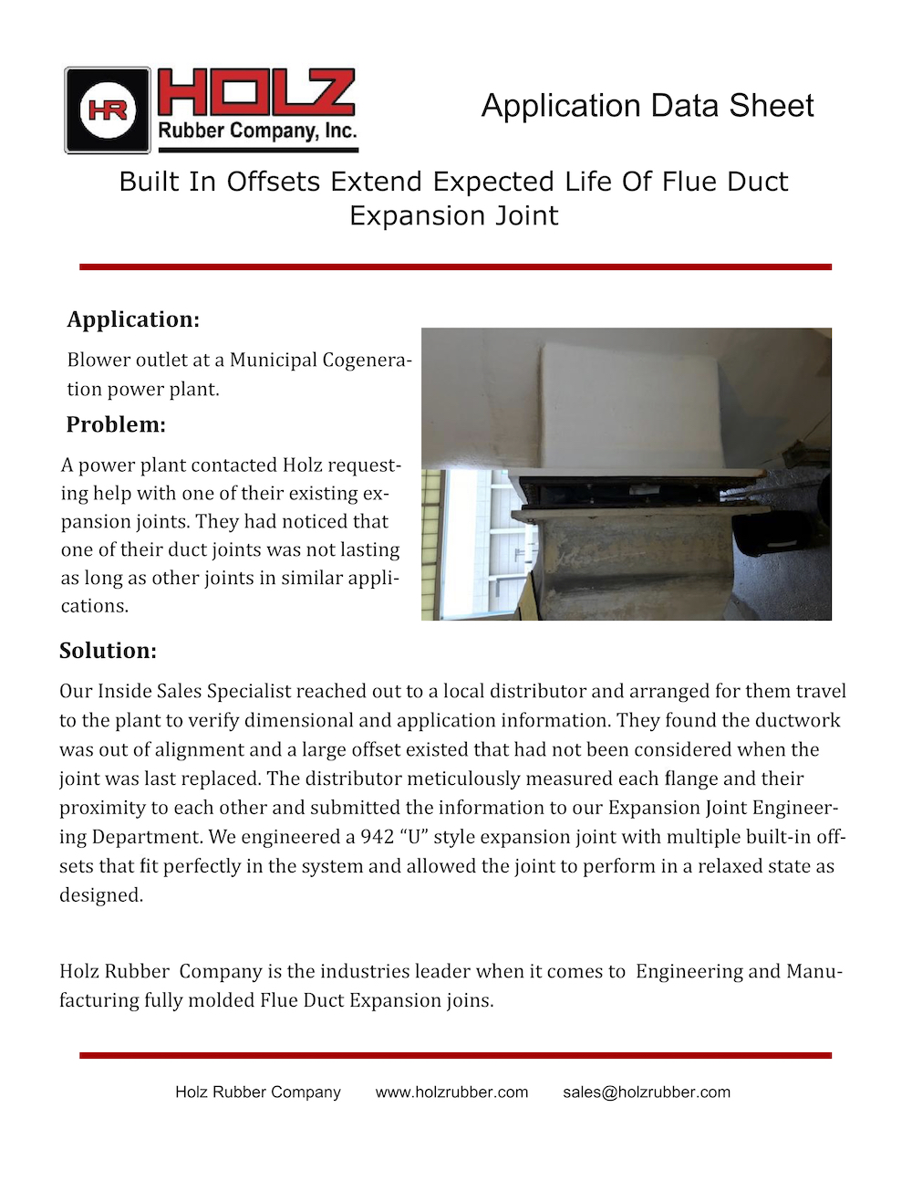 Built In Offsets Extend Expected Life of Flue Duct Expansion Joint